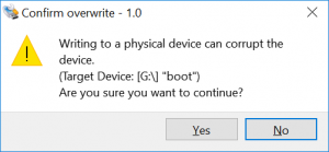 Confirm Overwrite: Are you sure you want to continue?
