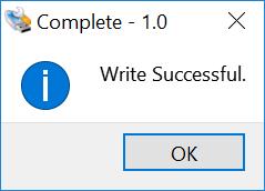 Complete: Write Successful