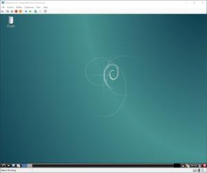 Virtual Machine Connection: Debian Desktop