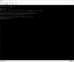 Virtual Machine Connection: Console Shell
