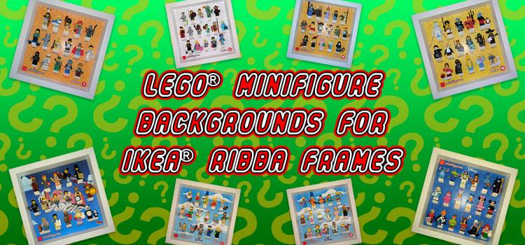 LEGO Minifigure Backgrounds for IKEA RIBBA Frames