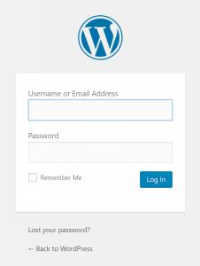 WordPress: Logon