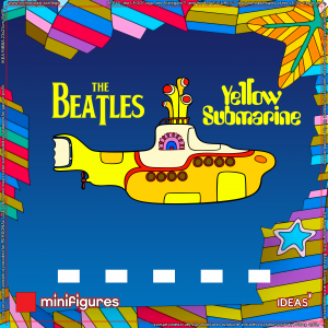 LEGO<sup>®</sup> The Beatles Yellow Submarine Background for IKEA<sup>®</sup> RIBBA Frame