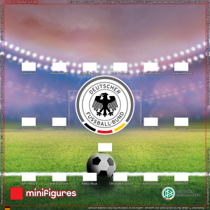 "LEGO<sup>®</sup> Minifigures DFB ""Die Mannschaft"" German Football Team Background for IKEA<sup>®</sup> RIBBA Frame"