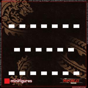 LEGO Ninjago Movie Series Background for Ikea Ribba Frame