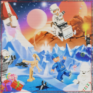 75146 LEGO Star Wars Advent Calendar 2016 Background for Ikea Ribba Frame