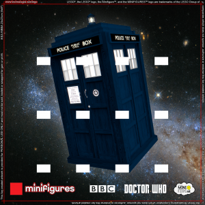 Doctor Who LEGO<sup>®</sup> Minifigures Background for IKEA<sup>®</sup> RIBBA Frame