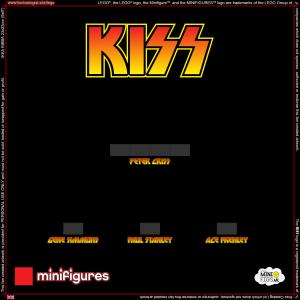 KISS LEGO<sup>®</sup> Minifigures Background for Ikea Ribba Frame