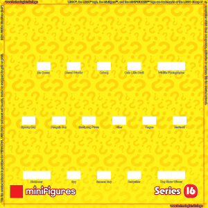 LEGO Minifigures Series 16 Background for Ikea Ribba Frame