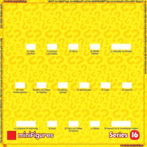 LEGO Minifigures Serie 16 Antecedentes para Ikea Ribba Marco