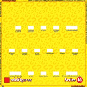 LEGO Minifigures Serie 16 Sfondo per Ikea Ribba Telaio