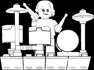 Lego Drum Kit Layout
