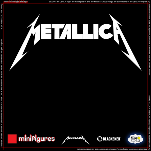 Metallica LEGO<sup>®</sup> Minifigures Background for Ikea Ribba Frame