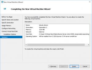 New Virtual Machine Wizard: Summary