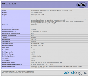 PHP 7.1.3 Information Page