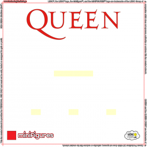 Queen LEGO<sup>®</sup> Minifigures Background for Ikea Ribba Frame