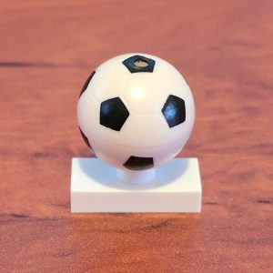 Soccer Ball mounted on 1 × 2 Plate with 1 Stud