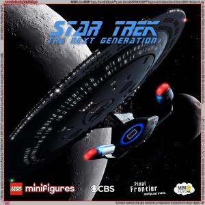 Star Trek The Next Generation LEGO Minifigures Background for Ikea Ribba Frame