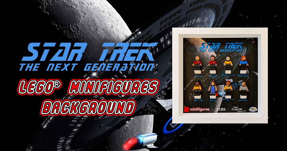 Star Trek The Next Generation LEGO Minifigures Background