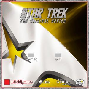 Star Trek The Original Series LEGO Minifigures Background for Ikea Ribba Frame