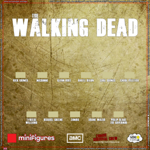 The Walking Dead LEGO<sup>®</sup> Minifigures Background for IKEA<sup>®</sup> RIBBA Frame
