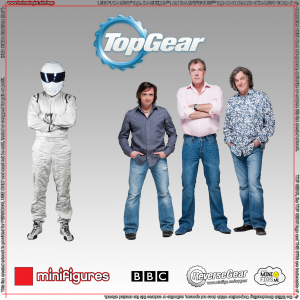 Top Gear LEGO<sup>®</sup> Minifigures Background for IKEA<sup>®</sup> RIBBA Frame