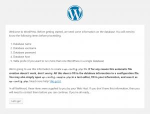 WordPress Setup: Let's go!