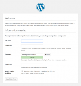 WordPress Setup: Welcome