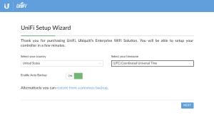 UniFi Setup Wizard: Welcome