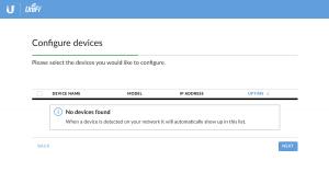 UniFi Setup Wizard: Configure devices