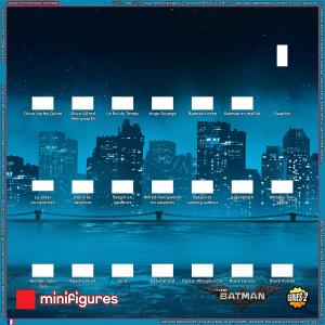 L'arrière-plan LEGO<sup>®</sup> Batman Movie Minifigures Série 2 pour cadre IKEA<sup>®</sup> RIBBA