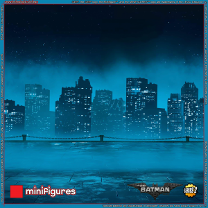 The LEGO<sup>®</sup> Batman Movie Minifigures Series 2 Background for IKEA<sup>®</sup> RIBBA Frame