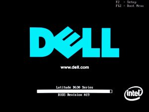 Dell Latitude D630 Power On Self Test (POST)