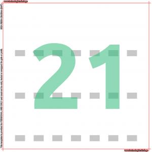 IKEA RIBBA 23 Minifigures Template 7×3 21