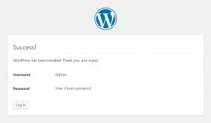 WordPress Setup: Success