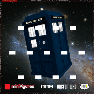 Doctor Who LEGO® Minifigures Background for IKEA® RIBBA Frame